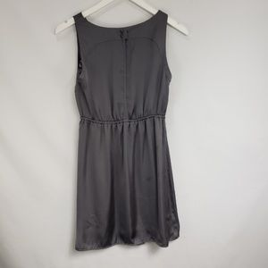 Mossimo Supply Co. Dresses - Mossimo Silver Gray Eyelet Satin Cocktail Dress